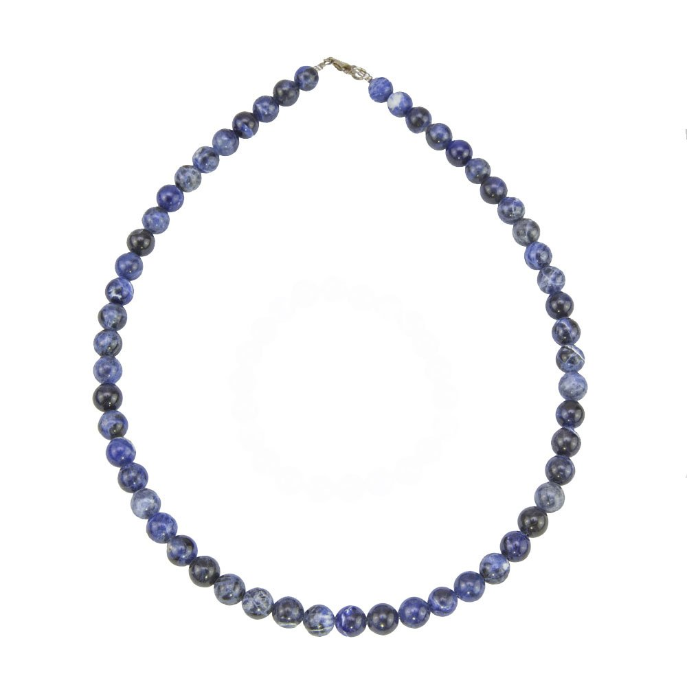 collier sodalite pierres boules 8mm