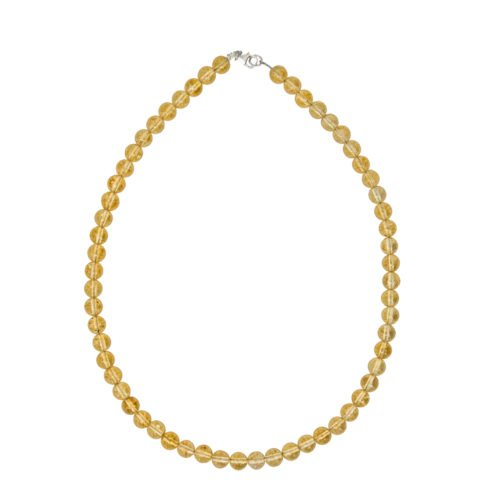collier citrine pierres boules 8mm