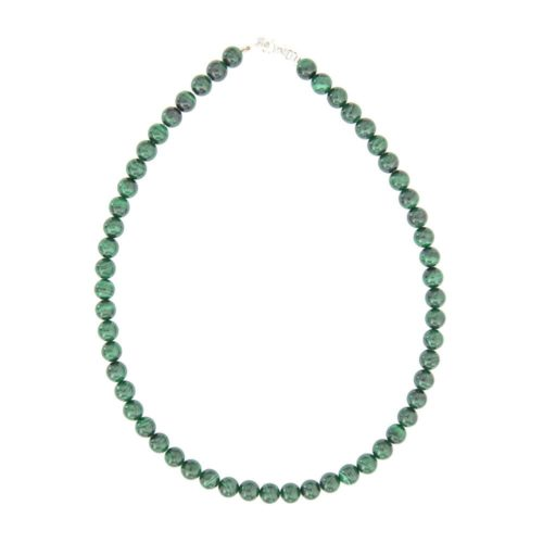 Malachite Necklace - 8 mm Bead