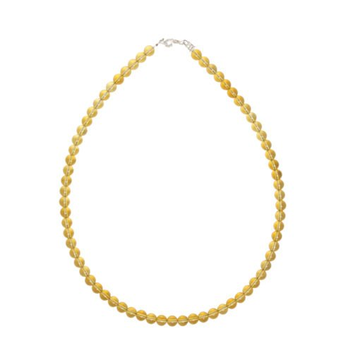 collier citrine pierres boules 6mm
