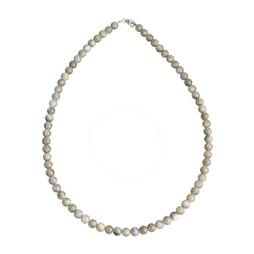 collier labradorite pierres boules 6mm