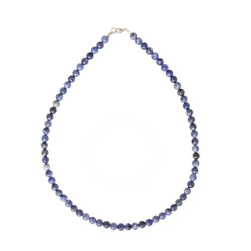 Sodalite Necklace - 6 mm Bead