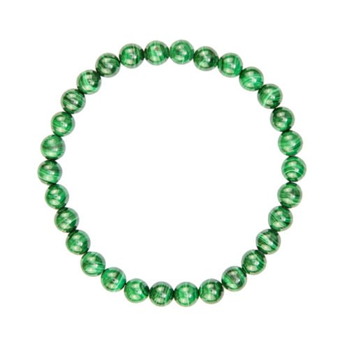 bracelet malachite pierres boules 6mm