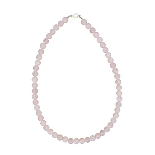 Rose Quartz Necklace - 8 mm Bead