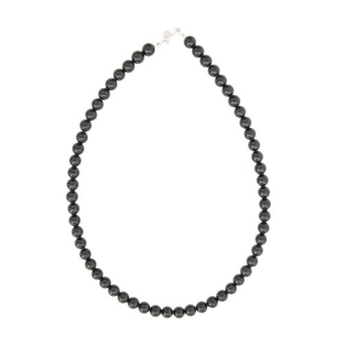 Black Tourmaline Necklace - 8 mm Bead