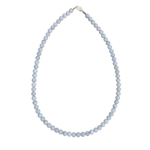 collier calcédoine pierres boules 6mm