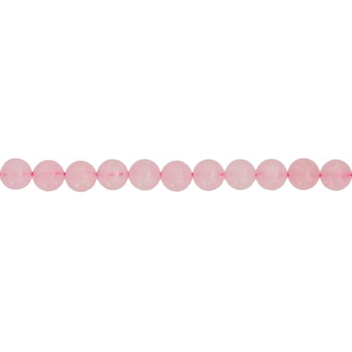Rose Quartz Line - 6 mm Bead