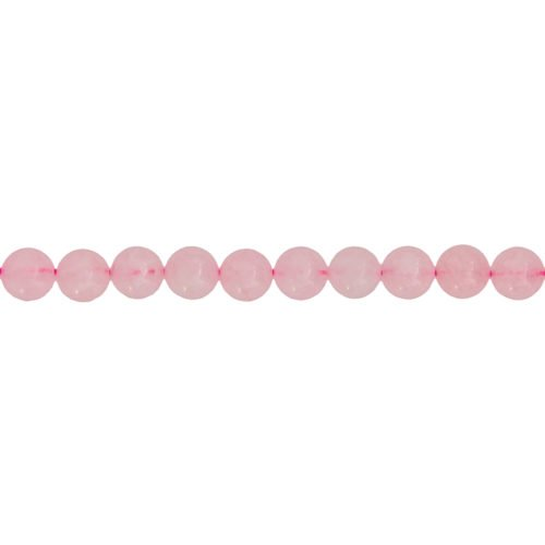 fil quartz rose pierres boules 8mm