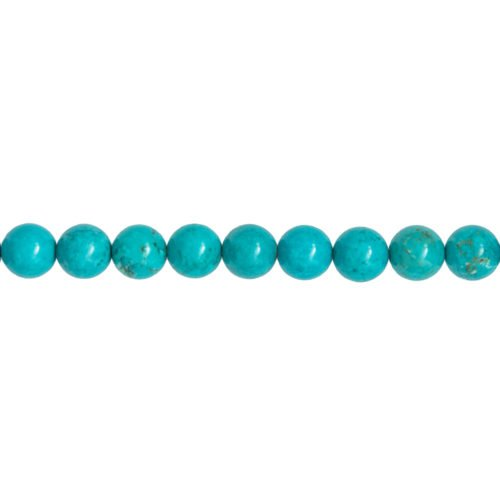 fil turquoise pierres boules 10mm