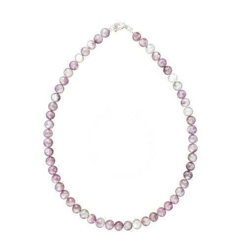 collier tourmaline rose pierres boules 8mm