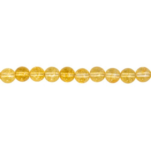 fil citrine pierres boules 8mm