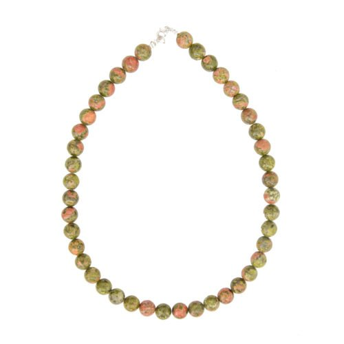 collier unakite pierres boules 10mm