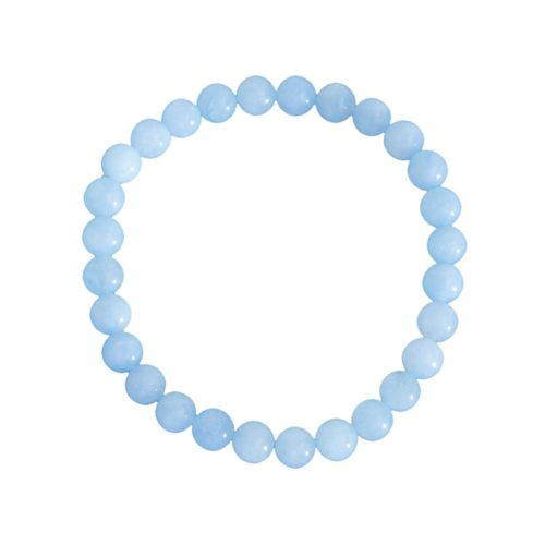 Aquamarine Bracelet - 6 mm Bead