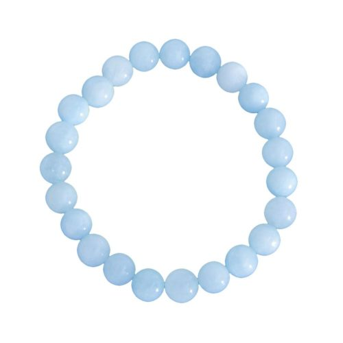 bracelet aigue marine pierres boules 8mm