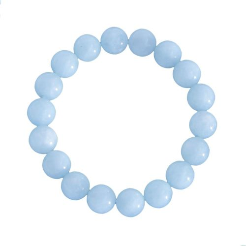 Aquamarine Bracelet - 10 mm Bead