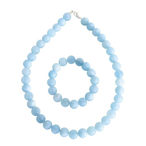 Aquamarine Gift Set - 12 mm Bead