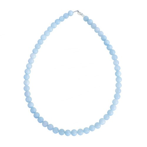 Aquamarine Necklace - 8 mm Bead