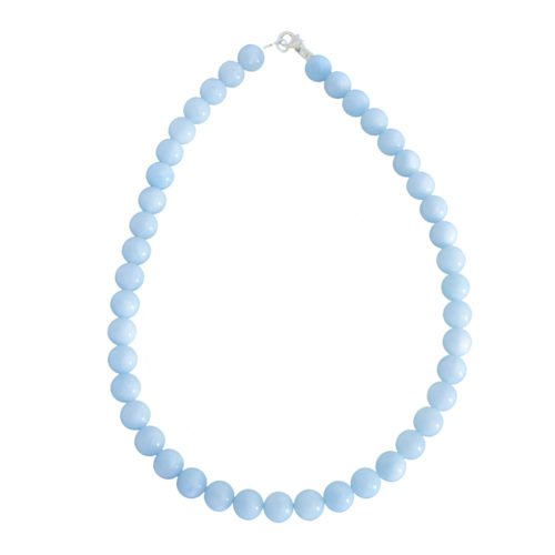 Aquamarine Necklace - 10 mm Bead