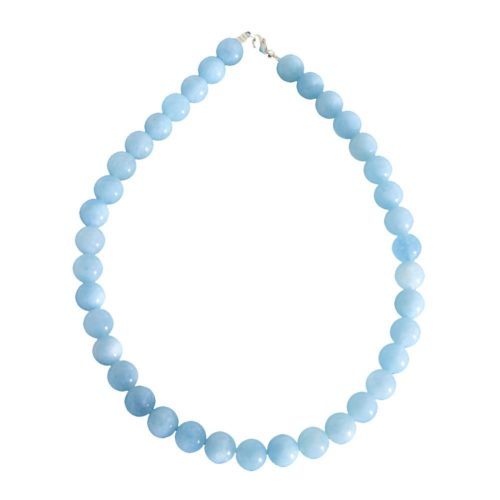 Aquamarine Necklace - 12 mm Bead