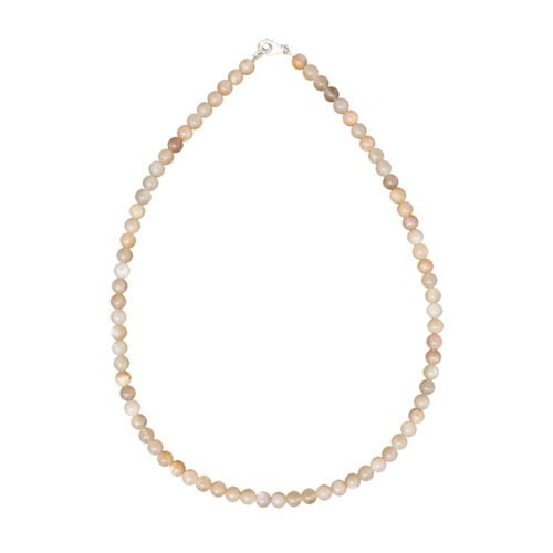 collier pierre de lune pierres boules 6mm