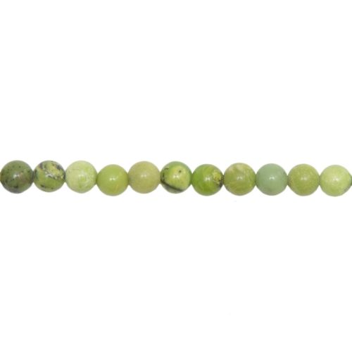 Lemon Chrysoprase Line - 6 mm Bead