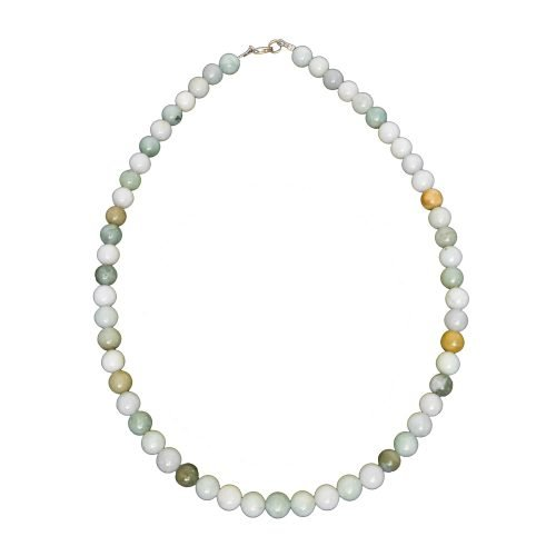 Burmese Jade Necklace - 8 mm Bead
