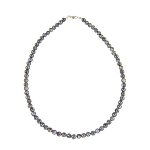 Labradorite Necklace with Inclusions - 6 mm Bead