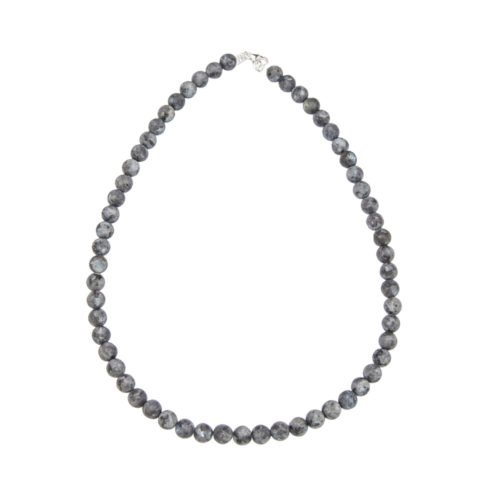 collier larvikite pierres boules 8mm