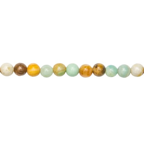 fil amazonite multicolore pierrss boules 6mm