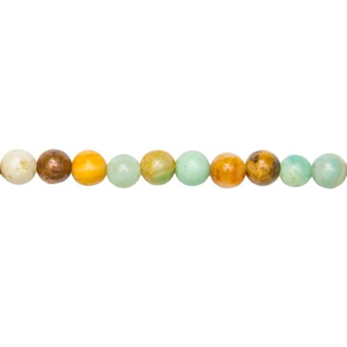 fil amazonite multicolore pierres boules 8mm