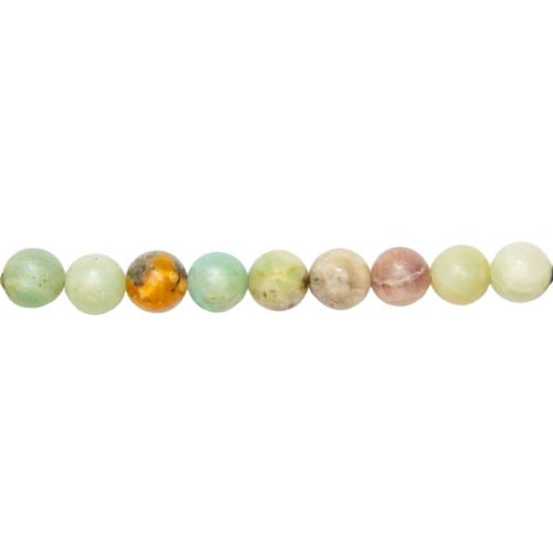 fil amazonite multicolore pierres boules 10mm