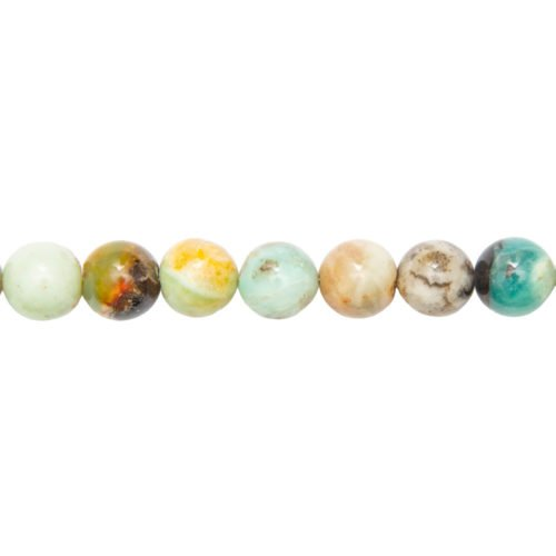 fil amazonite multicolore pierres boules 14mm