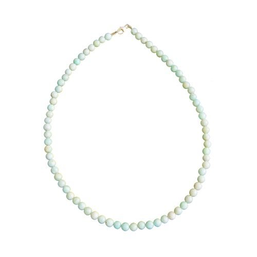 collier amazonite pierres boules 6mm