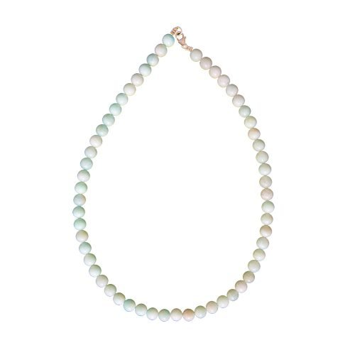 collier amazonite pierres boules 8mm