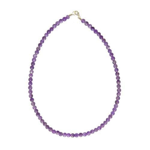 Amethyst Necklace - 6 mm Bead
