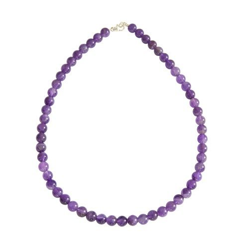 Amethyst Necklace - 8 mm Bead