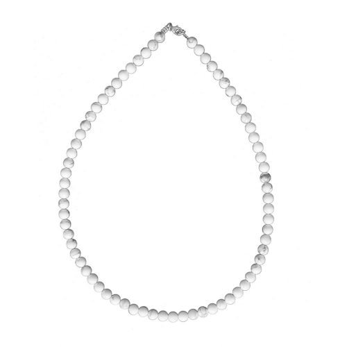 collier howlite pierres boules 6mm