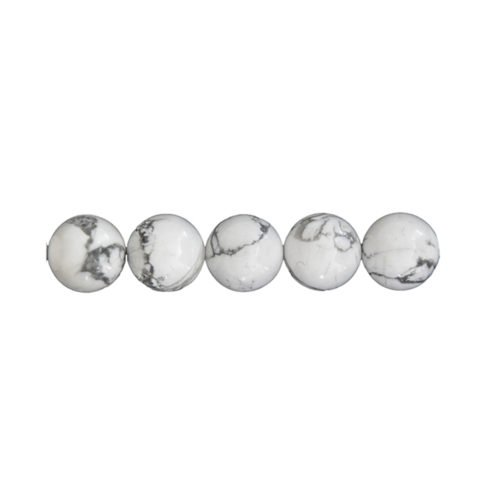 perle ronde howlite 6mm