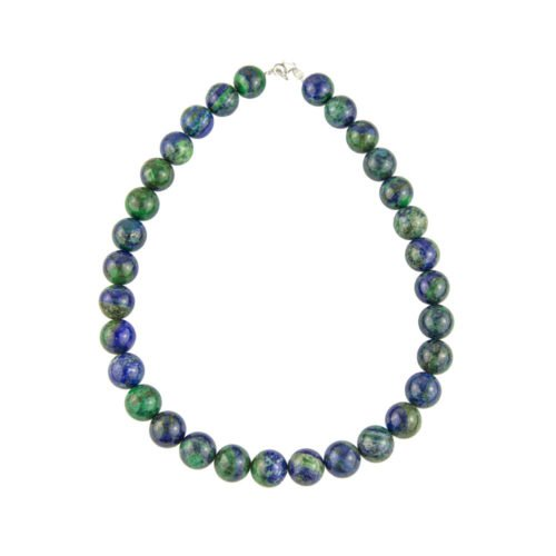 collier chrysocolle pierres boules 14mm