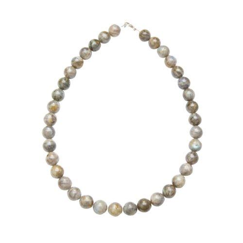 collier labradorite pierres boules 12mm