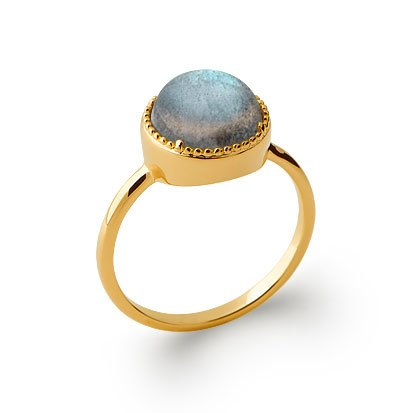 Labradorite 'Constantine' Ring - Gold Plated 750