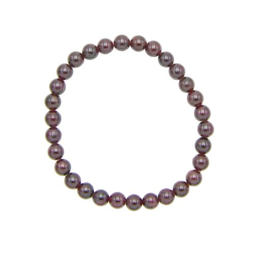 Red Garnet Bracelet - 6 mm Bead