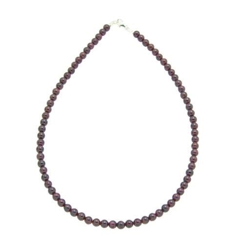 Red Garnet Necklace - 6 mm Bead