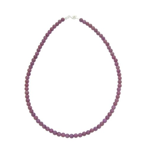 collier rubis pierres boules 6mm