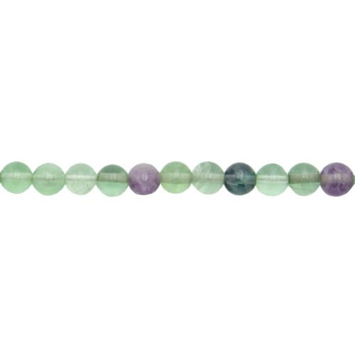 fil fluorite multicolore pierres boules 6mm