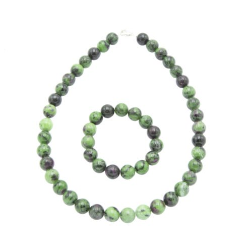 Ruby with Zoïsite Gift Set - 12 mm Bead
