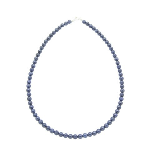 collier saphir pierres boules 6mm