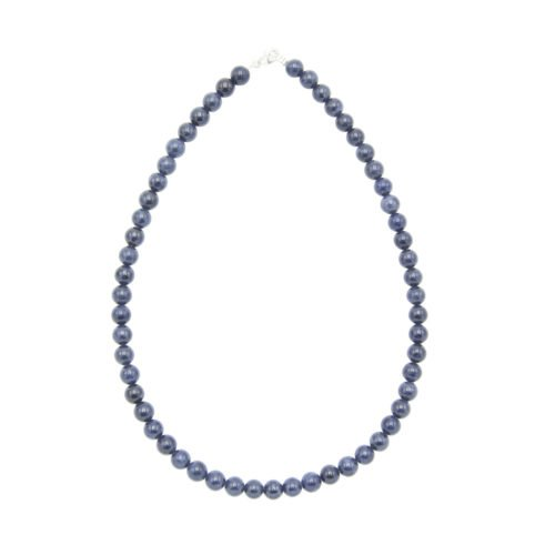 Sapphire Necklace - 8 mm Bead