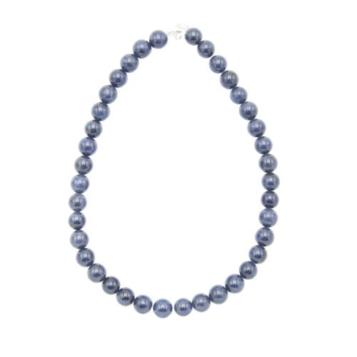 Sapphire Necklace - 12 mm Bead