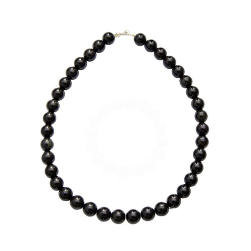 collier onyx pierres boules 12mm